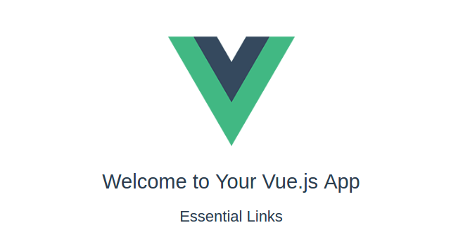 vue.js launching page