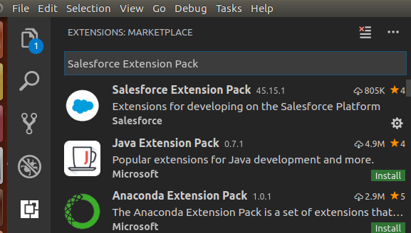 vscode salesforce extension