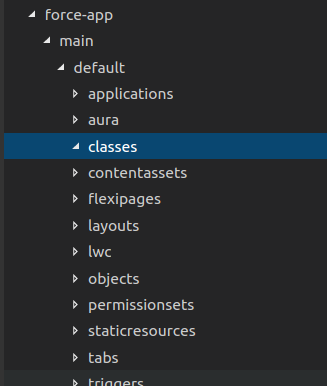 create apex class in vscode